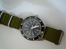 AUTOMATIC DG 2813 Time Arrow  Military Benrus Type 2 316 sapphire white hands