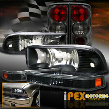 Chevy Blazer [COMPLETE 6PCS] Black Headlights + Smoke Tail Light + Signal Light
