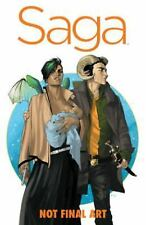 Saga Vol. 1 by Brian K. Vaughan (2014, Hardcover, Deluxe)