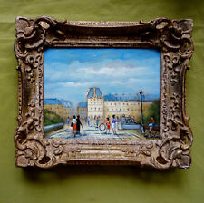 """Beau tableau """"Les Tuileries"""" signé M. Pabois (1939) artiste coté. Superbe cadre."""