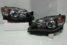 HALOGEN JDM 09-12 Subaru Impreza WRX Rev10 GRB GH8 BLACK Front Headlights Lamps