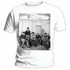 One Direction Ladies Tee: Band Lounge Black & White with Skinny Fitting
