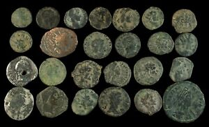 Roman period, 27 coins uncleaned lot.