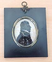 Ebony wood frame vintage pre Victorian antique silhouette picture