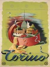 Viaggi TURISMO TORINO ITALIA MOLE ANTONELLIANA Cappello Auto Poster Art Print bb2876b