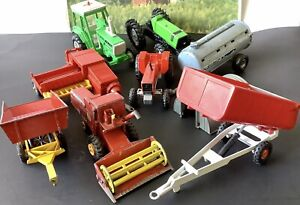 Job Lot of Britains, Lesney Matchbox & Corgi Farm Vehicles - Vintage - Tractor