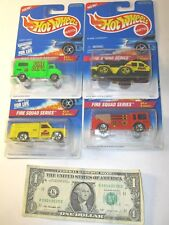 Fire Squad Series Complete Series Set Hot Wheels Die Cast Cars - Lot of 4