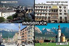 SOUVENIR FRIDGE MAGNET of INNSBRUCK TYROL AUSTRIA