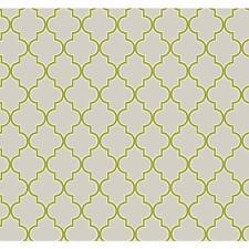 ER8198 Pearl Grey Lime Green Waverly Buzzing Around Trellis Wallpaper
