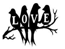 Love Birds vinyl Decal / Sticker