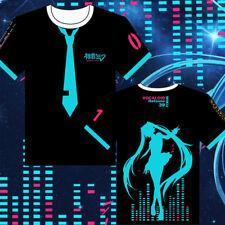 Fashion Anime Hatsune Miku T-Shirt Print Casual Short Sleeve Tee Shirts Cosplay