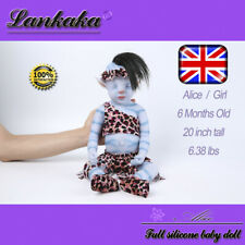 """20"""" Lifelike Realistic AVATAR Silicone Reborn Baby Dolls Girl With Hair For Kids"""