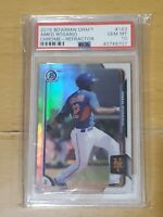 2015 Bowman Chrome Refractor Amed Rosario RC Rookie PSA 10
