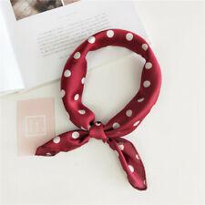 Women Square Scarf Head-Neck Tie Hair Band Silk Feel Satin Bandana Handkerchief