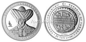 Turkey 2021, MURAD I, SILVER Comm. Coin 925Ag SULTANS of Ottoman Empire #3