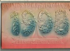 Embossed New Year Postcard, Happy 1908