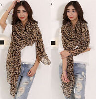 Fashion Women's Long Style Wrap Lady Shawl Leopard Chiffon Scarf Scarves Stole