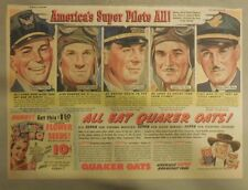 "Quaker Cereal Ad: ""America's Super Air-Pilots All!"" 1940's Size: 11 x 15 inches"