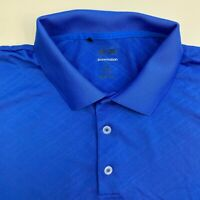 Adidas Polo Shirt Mens 2XL Blue Short Sleeve Casual Golf PureMotion