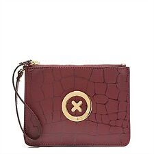 MIMCO Sonica Duo Pouch Wallet Clutch Leather Bordeaux Tags Bag