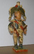 Superbe sculpture vernissée art populaire Tambour Major Napoléon