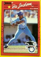 1990 NO Dot Period BO Jackson Donruss 2 ERRORS Card #650 Baseball KC Royals MINT