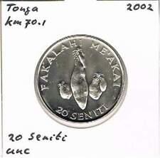 Tonga 20 seniti 2002 UNC - KM70.1 (ml054)