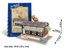 American Resturant 3D Puzzles Children Boy Girl Model Paper DIY Educational Toy