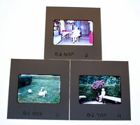 Vintage 35mm Photo Transparency Slides - Little Girl 1970 | Lot of 3