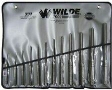 Wilde Tool Roll Spring Punch Set in Natural with Vinyl Roll Pouch (12-Piece) Pin