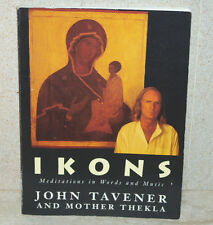 IKONS Meditations in Words and Music - John Tavener 1994 1/1 - CD Unplayed