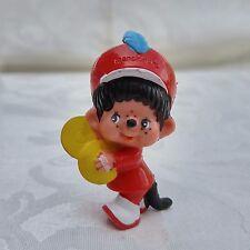 Vintage Monchhichi 1979 PVC / Plastic Mini Figure Cymbal Player Marching Band
