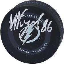 Nikita Kucherov Tampa Bay Lightning Autografiado Disco de Juego Oficial