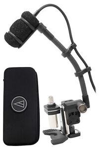 "Audio Technica ATM350D Condenser Instrument Microphone w/5"" Gooseneck+Drum Mount"