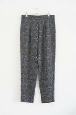 HOF115: COS Hose falten wolle muster / Tapered printed trousers relaxed 40 UK 14