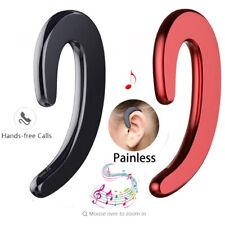 Bluetooth Bone Conduction Headphones Wireless Earphone Headset Mic Black