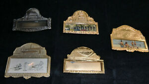 5 Vintage Convention Name Tag Ribbon Holders 5 Cities.