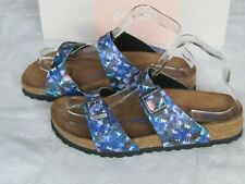 NEW Papillio Ladies Navy Blue Floral SOFT FOOTBED Mules Sandals UK Size 5 EU 38