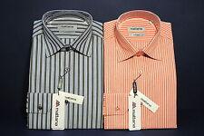 Camicia uomo puro cotone misura 44 collo classico tessuto facile stiro due capi