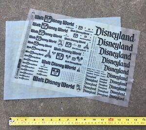 Rare 1980's Disneyland/ Walt Disney World Logo Letraset Instant Lettering Sheet