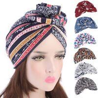 Women Hair Loss Scarf Cancer Chemo Cap Muslim Flower Turban Hat Hijab Head Wrap