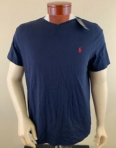 POLO RALPH LAUREN Men's V-Neck Navy Blue T-Shirt Size L NWT