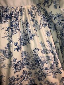 Country Curtains Bedskirt TWIN twin xl French Country Farmhouse toile USA