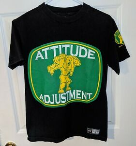 JOHN CENA Attitude Adjustment/U Can't C Me WWE Wrestling T-Shirt Mens Size Small