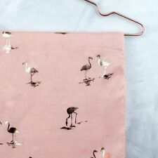 BNWT  PINK AND ROSE GOLD FLAMINGO PRINT SCARF - FREE P&P