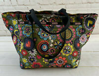 LeSportsac Everygirl Tote Classic Retro Floral and Hearts Travel