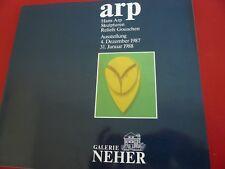 ARP AUSSTELLUNG 1987 GALERIE NEHER