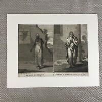 Antico Incisione Originale 18th Secolo Bernard Picart Marocchino Africano Raro