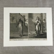 Rare 18th Century Engraving Picart Moubach Moroccan & African Woman