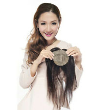 100% Human hair Clip in Toupee Closure for Top Hair lose  5''*7'',Color 1B, 14''